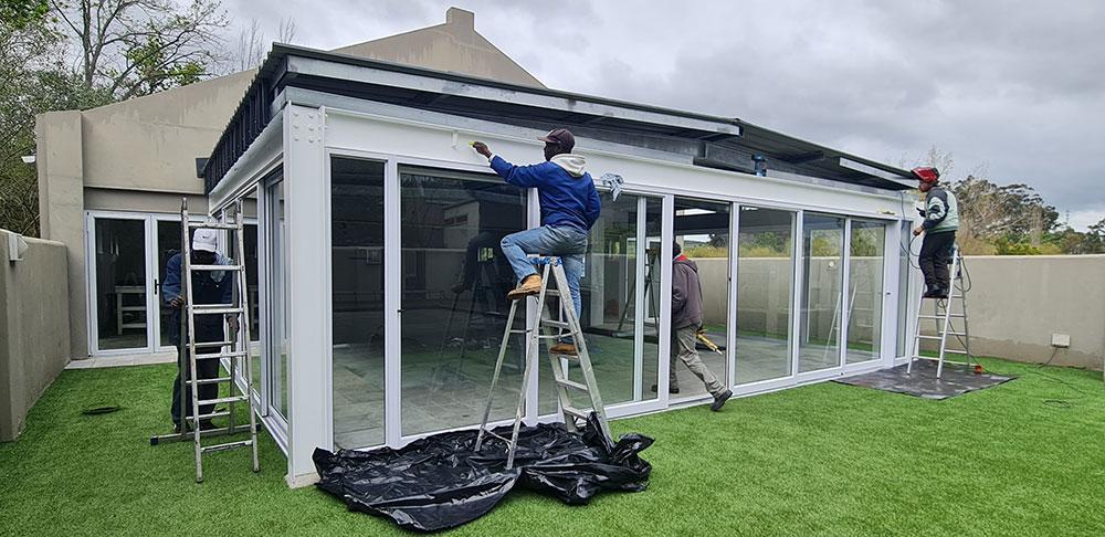 Custom Aluminium installations windows, doors and shutters in Stellenbosch